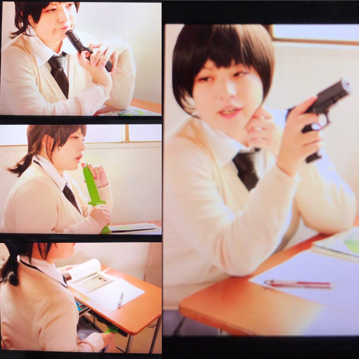 【コス写真注意】昨年出した暗殺教室の原さんを見てくれー!カメラをあいぽんで撮ったから画質悪いのでphoto by とかは