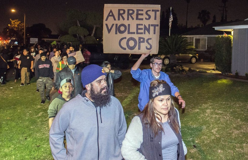 Protests in Anaheim after off-duty cop fires gun during clash with young teens