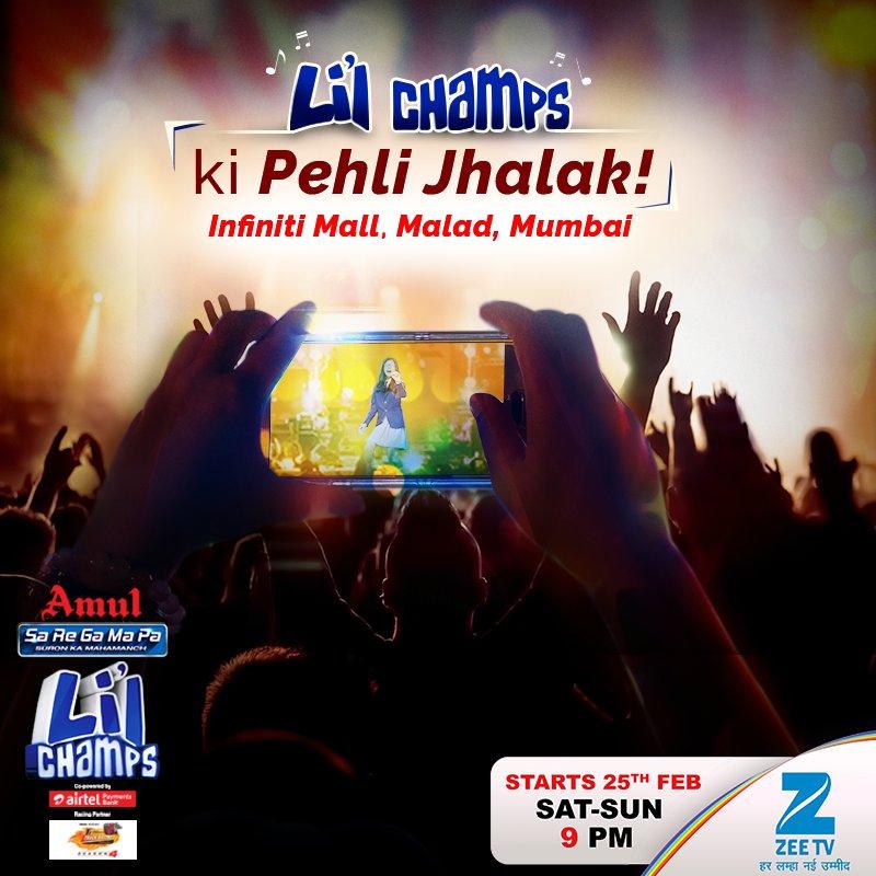 Mumbai waalo, hai ek golden chance,TV se pehle #LilChamps aa rahe hai aapke paas! Stay ...
