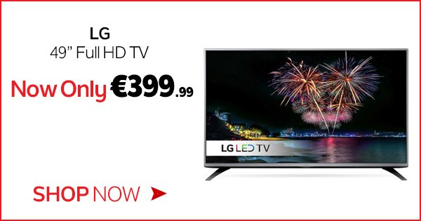 "Get the right picture for whatever you're watching w/ the LG 49"" Full HD TV, now €399.99! https://t.co/pyrYofBoiT https://t.co/ulwDv9vblT"