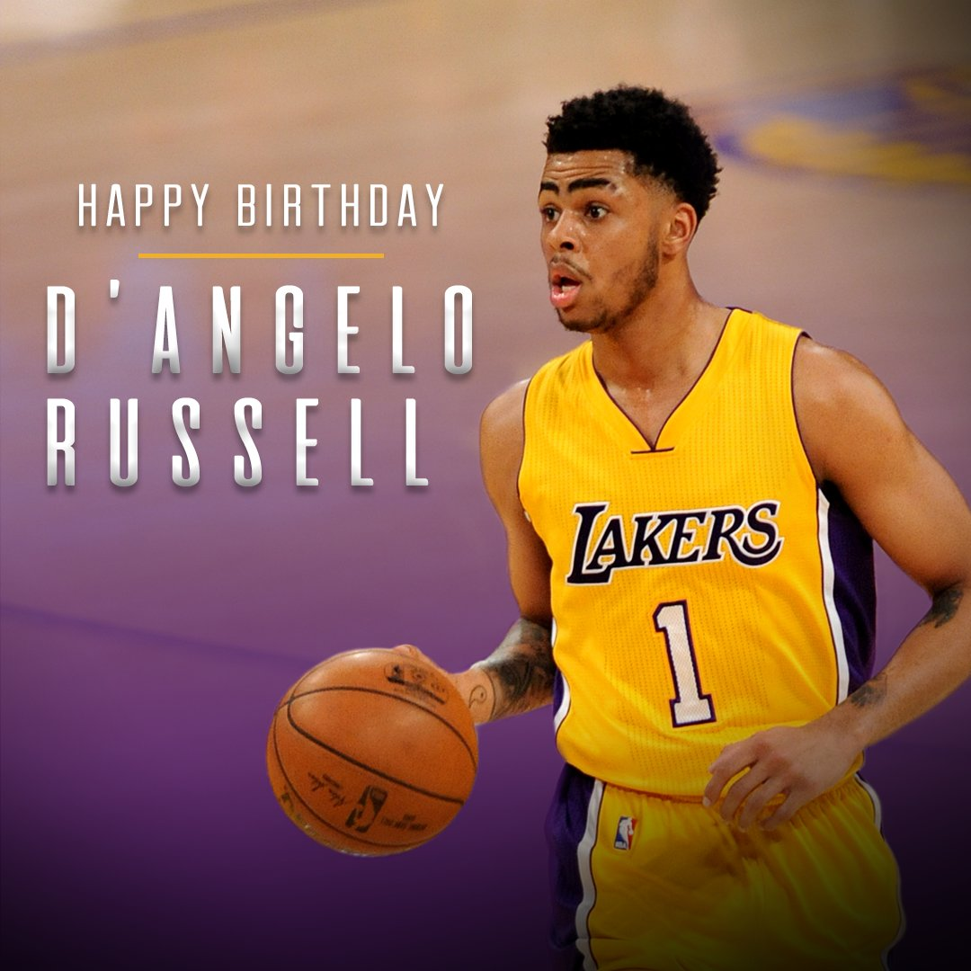 Happy 21st Birthday to guard D\Angelo Russell!