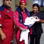 Abandoned newborn baby rescued from the cold and rain