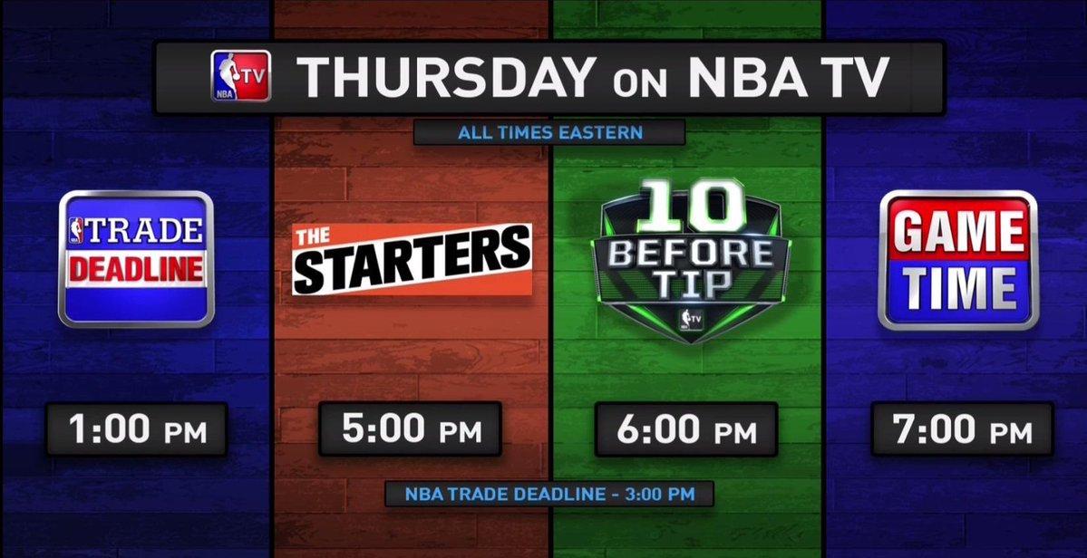 Starting at 1pm/et, @NBATV's got you covered for all of the latest #NBATradeDeadline news!