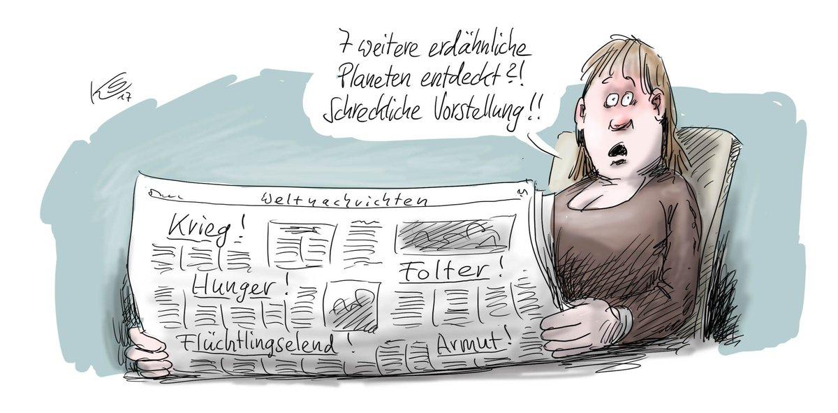 Noch mehr Elend. #trappist1 Mehr Karikaturen von #Stuttmann unter: https://t.co/p2XNdZQGzy
