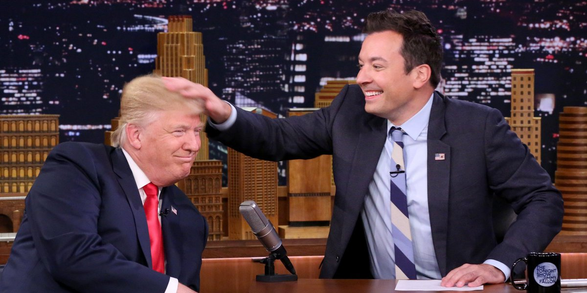 Stephen Colbert's lead over the apolitical Jimmy Fallon is only growing