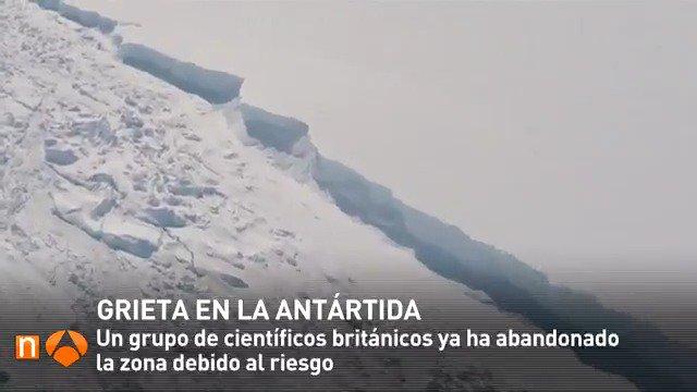 #3deA3N Una enorme grieta de 80 kilómetros cruza la Antártida, entre las imágenes de la jornada