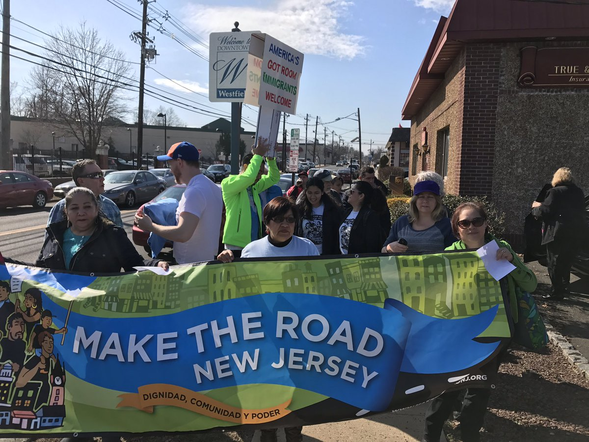 Marching towards Rep Lance office in NJ to tell him to stop the deportations #NoBanNoWallNoRaids https://t.co/cay3s4m44d