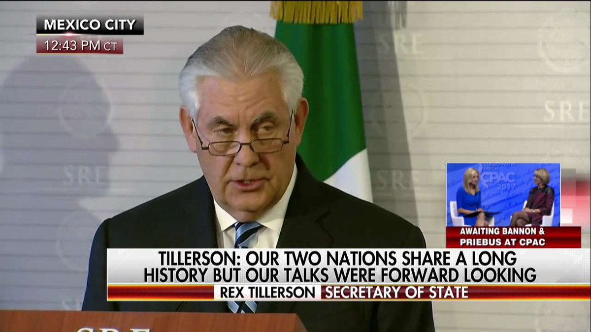 Tillerson Our two nations share a long history but our talks were forward looking.