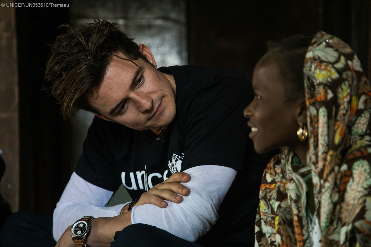 Goodwill Ambassador #OrlandoBloom recently met children affected by Boko Haram violence on his trip to #Niger https://t.co/jrA7g5yjEb