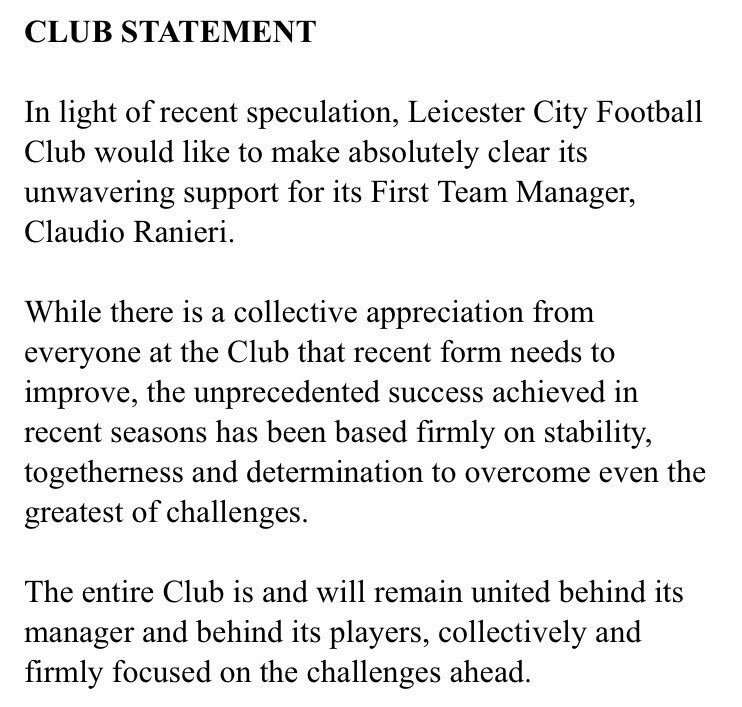 RT @FootyAccums: Just over two weeks ago they released this statement.   What an embarrassment football has become. https://t.co/c0cpNp6377
