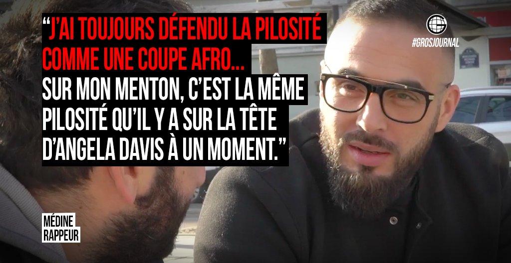 «J'ai toujours défendu la pilosité comme une coupe afro…» - @Medinrecords au #GrosJournal https://t.co/vFQqWl9yQB