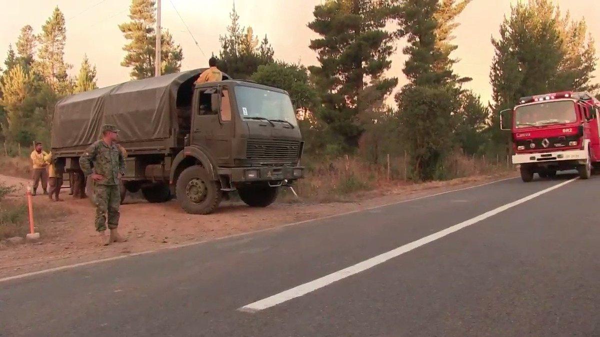Le Chili ne finit pas de combattre les feux de forêt #AFP