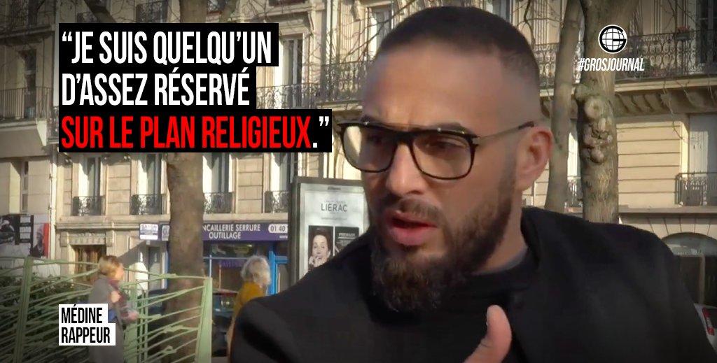 «Je suis quelqu'un d'assez réservé sur le plan religieux.» - @Medinrecords au #GrosJournal https://t.co/vFQqWl9yQB