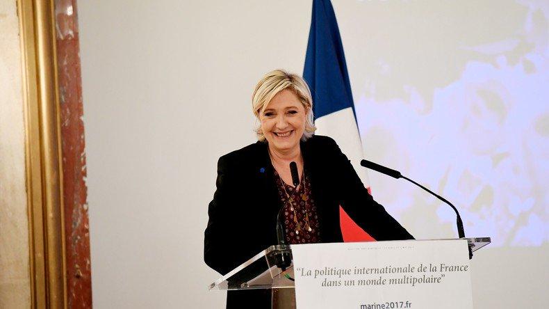Devant des ambassadeurs internationaux, #MarineLePen promet de nouveau «une #France puissante» https://t.co/S3Smkj9J5I