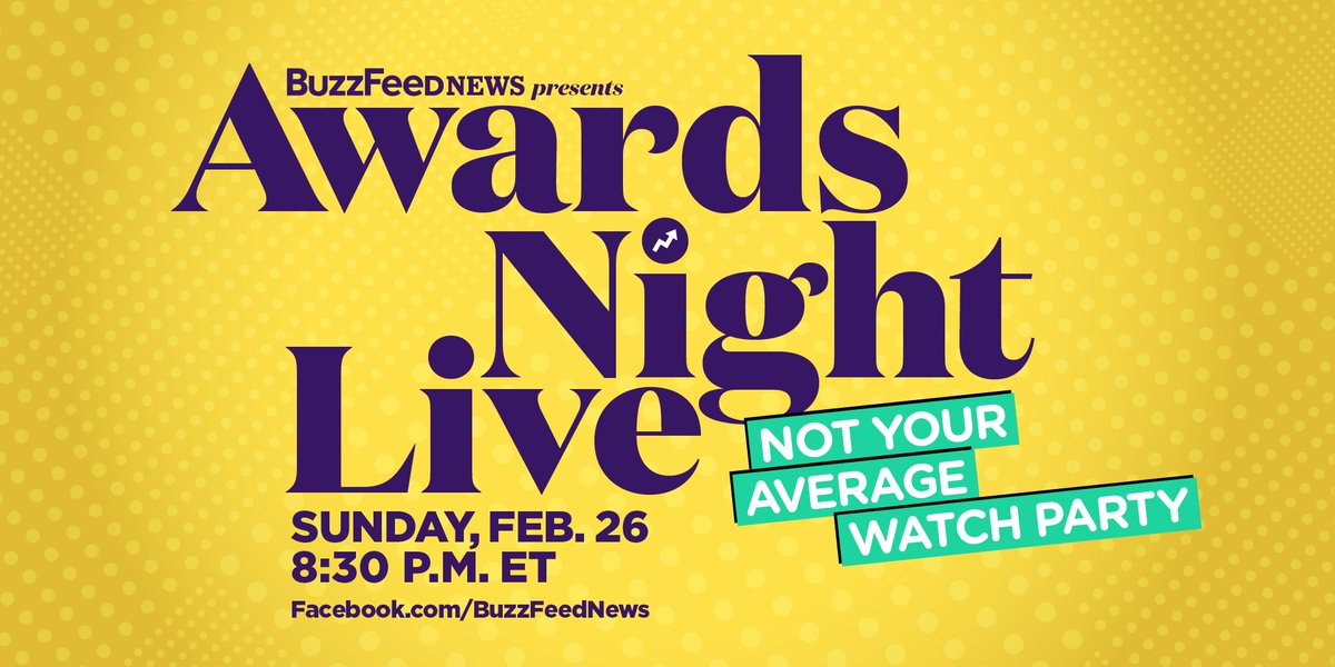 Sunday is the biggest night in Hollywood 🏆 We're throwing a not-at-all-average watch party, Awards Night Live!