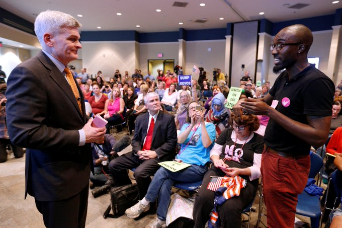 1. Members of Congress are holding town halls in their districts to discuss replacing Obamacare.