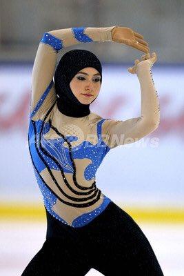 フィギュアスケート女子にザハラ・ラリと言うUAEの選手が居るのか。独特の衣装が減点対象になった事もあるそう。映画の主人公