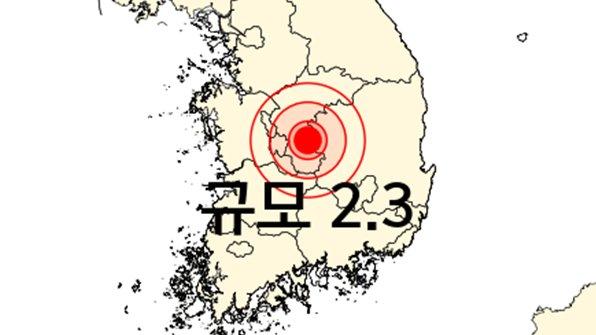 [충북 옥천에서 규모 2.3 지진] 이번 지진의 진앙지는 충북 옥천에서 동북동쪽으로 21km 떨어진 지역으로 분석됐습니다. https://t.co/FgpCSXiCGG