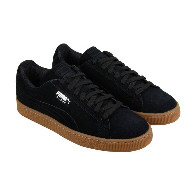 #fashion #free #shoes #style #win #giveaway #shopping Puma Suede Classic Debossed Mens Black Suede Lace Up Sneakers Shoes #rt