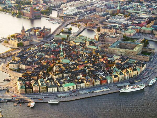 魔女の宅急便のモデルといわれている町。  ストックホルム@スウェーデン。