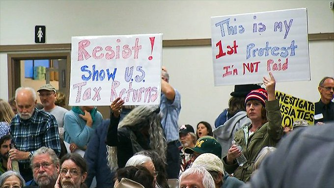 Republicans are facing tough questions about Trump's tax returns at town halls https://t.co/zYOeKmIEzd