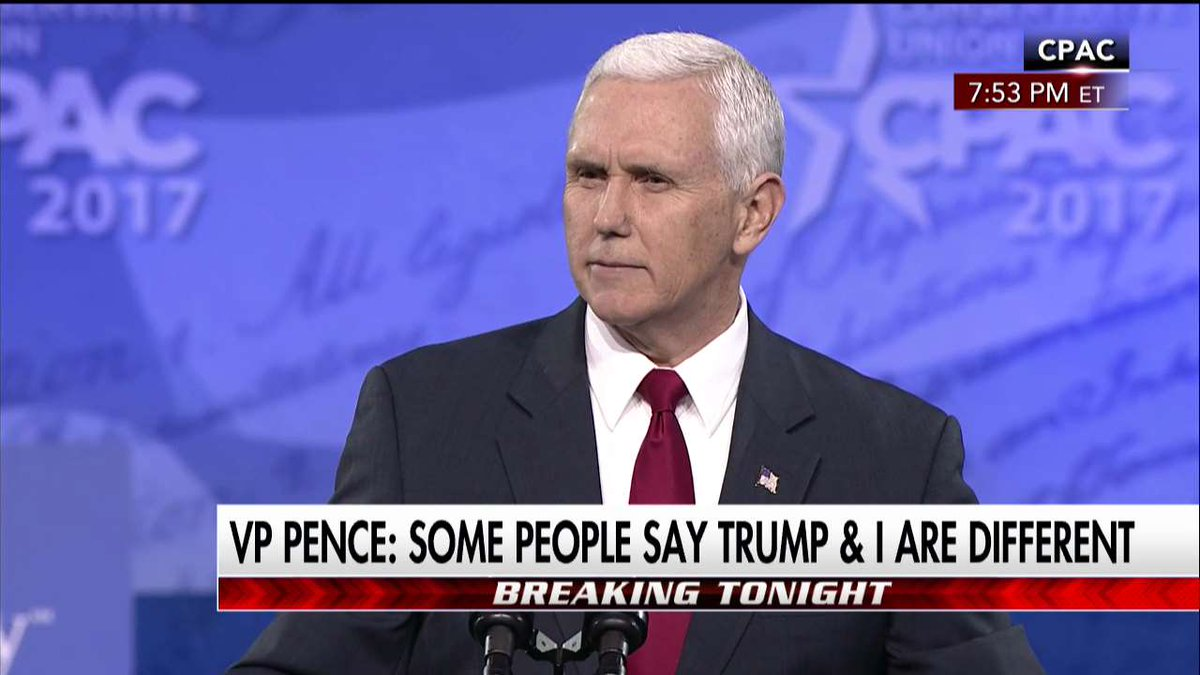 .@VP on @POTUS: He is a fighter. He is a winner and I promise you he will never stop fighting until we make America great again. #CPAC #MAGA