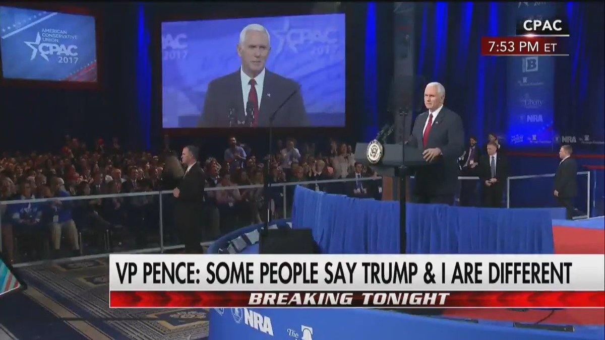 ".@VP: ""I promise you [@realDonaldTrump] will never stop fighting until we make America great again!"" #CPAC2017"
