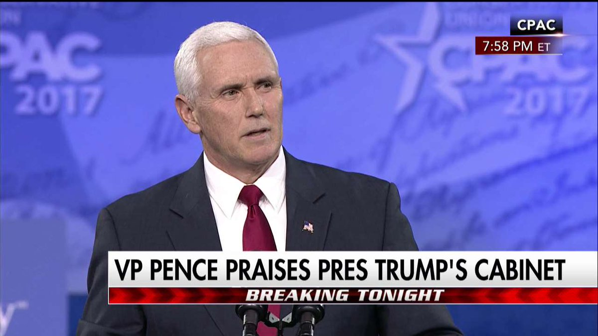 .@VP on the @POTUS administration: 'Folks, this is the A-Team.' #CPAC