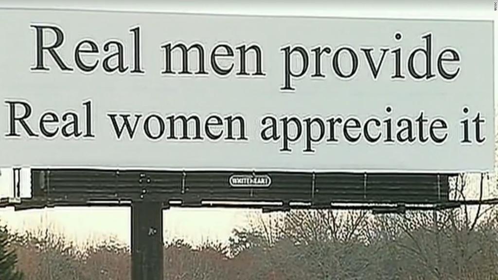 'Real men provide. Real women appreciate it': North Carolina billboard sparks protest https://t.co/QMaHFfATgg