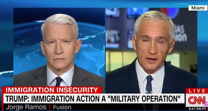 Jorge Ramos rails against right-wing lie that crime is up because of immigrants https://t.co/QDhkpjy4Zh