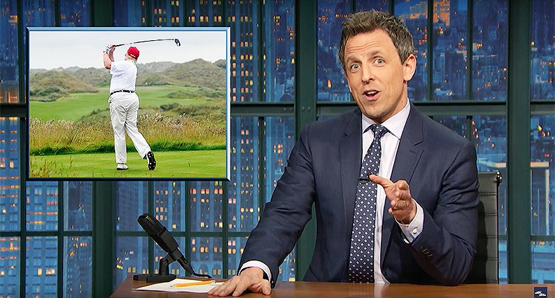 'He's the Tiger Woods of hypocrisy': @sethmeyers nails Trump for golfing after criticizing Obama for it https://t.co/32b0zRmUzm