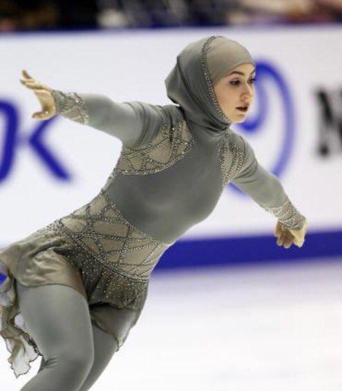 ⬜︎札幌冬季アジア大会でUAEのラリがヒジャブ姿で演技フィギュアスケートでは珍しい、イスラムの衣装で演技を披露近年までU