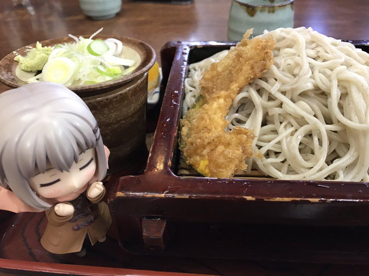 もりそばー(^^)/ #飯能ひな飾り展2017 #ヤマノススメ