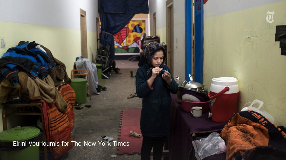 """Everyone here feels depressed."" Inside Greece's refugee camps:"