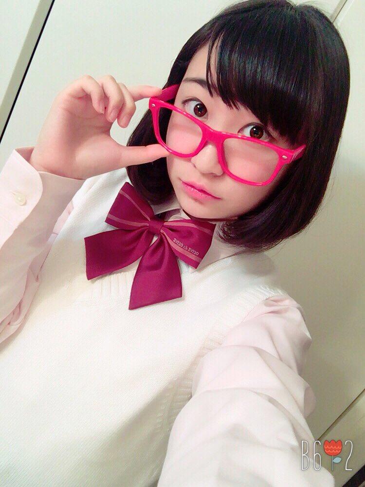 境界の彼方の栗山未来ちゃんの眼鏡かけてみたよ〜☺️💕これからボイトレ(*´`)明日は小牧未侑さんと「あにトレ!XX」Bl