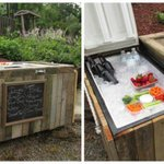 Here's How to Easily Turn a Busted Refrigerator Into a Rustic Outdoor Bar