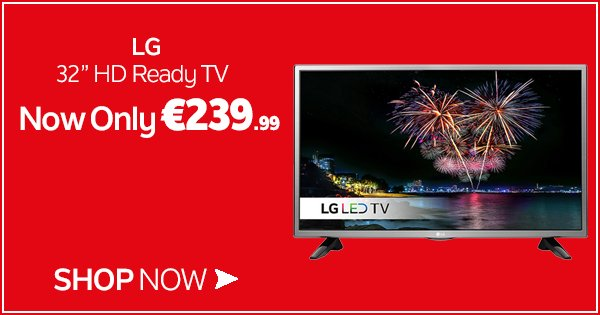 "We've slashed prices on TVs this weekend in store & online inc. this LG 32"" HD Ready TV! https://t.co/psY1qM94xf https://t.co/z8VGtRyJim"