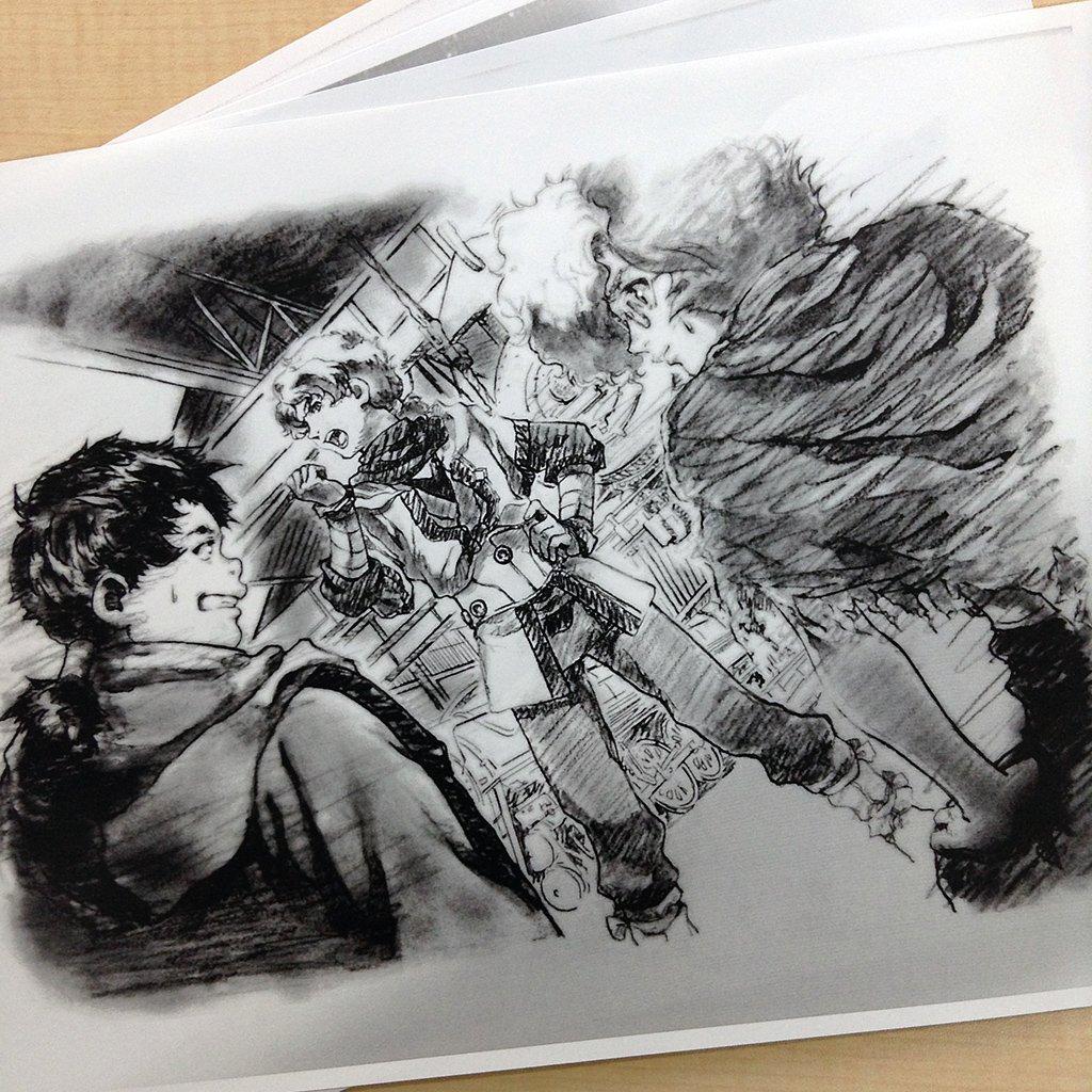 【カバネリ】外伝小説第2弾「甲鉄城のカバネリ 追憶の邑」2/28(火)発売直前に、美樹本氏描き下ろしの挿絵をこっそりお披