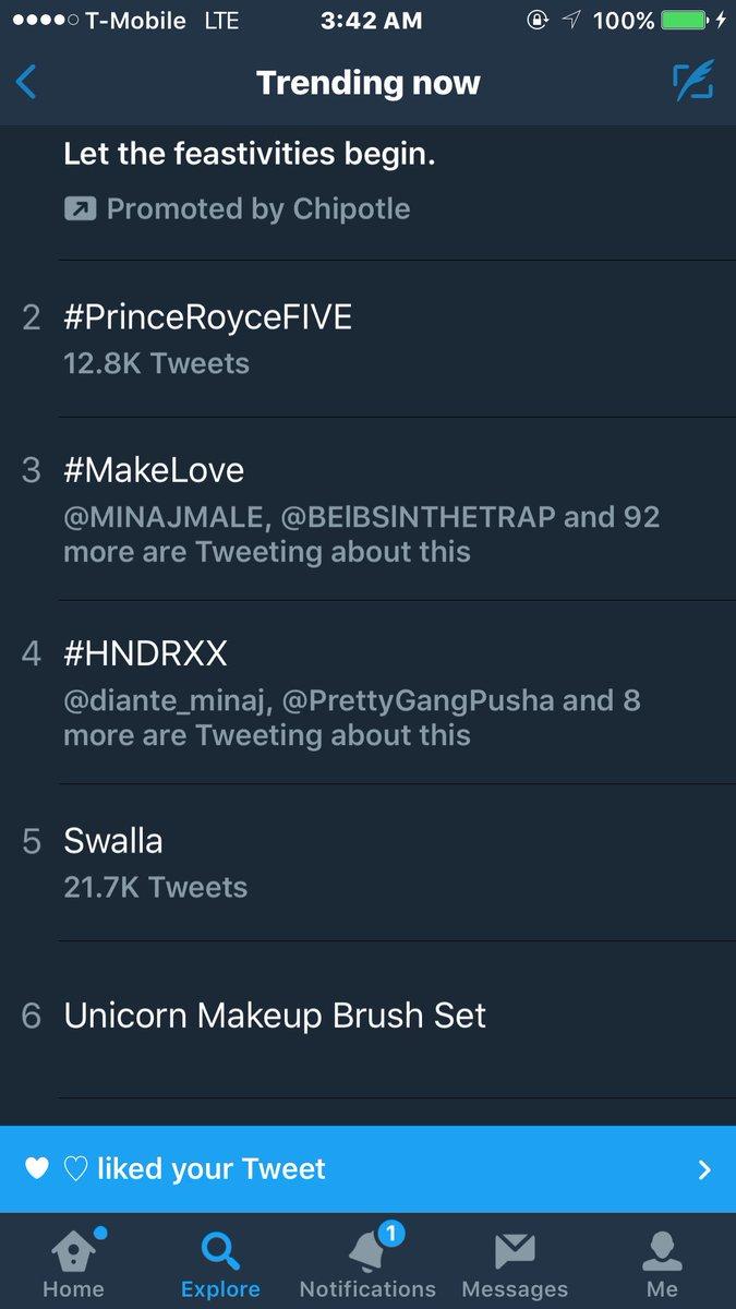 RT @JasonZolanski_: #Swalla & #MakeLove are both trending rn ???????? ???? https://t.co/dDjPsrEn27
