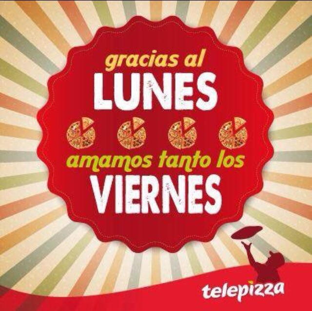 HOY ES VIERNES DE TELEPIZZA!! 🍕🍕 #HoyTocaTelepizza #GanasDeTelepizza  #TelepizzaSíQueMola https://t.co/ViePXfeG88