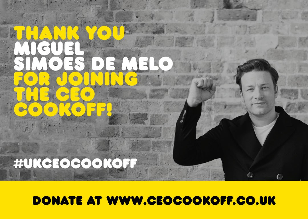 Thanks Miguel @BainAlerts for taking part in the #UKCEOCookOff really appreciate the support ! see you soon x jo xx https://t.co/gRcOSu4MoA