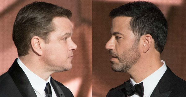 Jimmy Kimmel is seeing to it that Matt Damon finds a surprise on his seat at the Oscars: