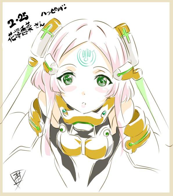 コードΩ46セニアこと花澤香菜さんの誕生日お祝いイラストをアンジュヴィエルジュより #花澤香菜  #Ange_アニメ