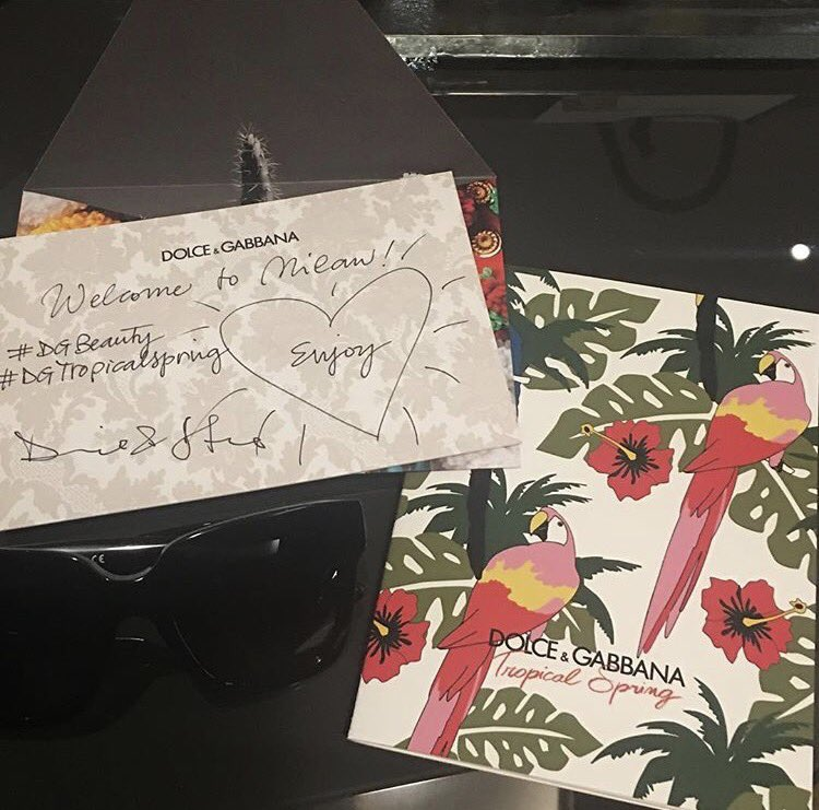 ❤????❤????❤ Thank you @dolcegabbana We are so thrilled to be here! ???? #dgbeauty #DGTropicalSpring https://t.co/xQjJ0f9GIA