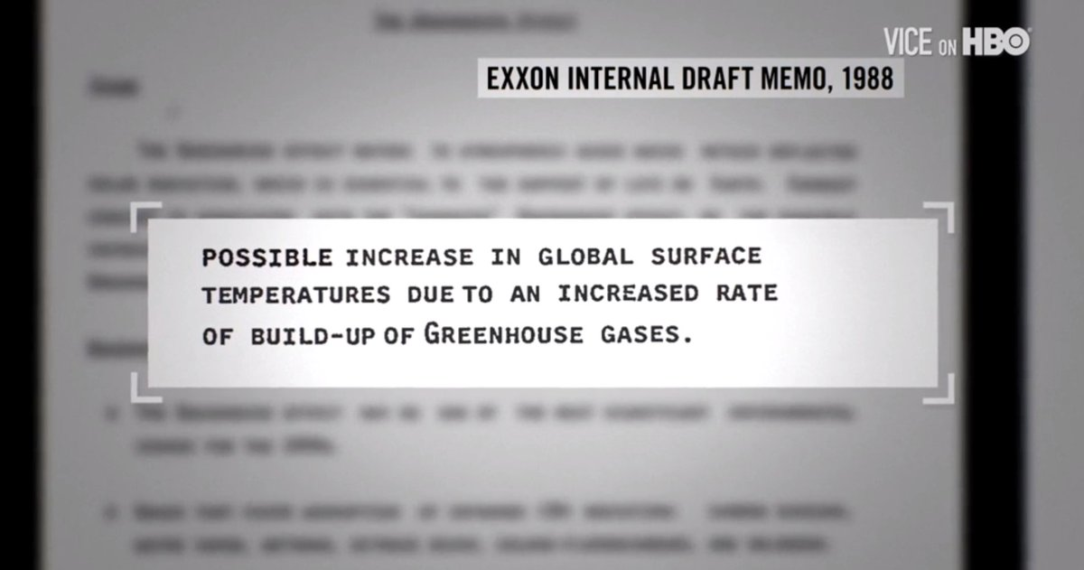 RT @vicenews: Exxon knew about the threat of climate change decades ago — then went into denial mode. #VICEonHBO https://t.co/Kh7do0aDgd