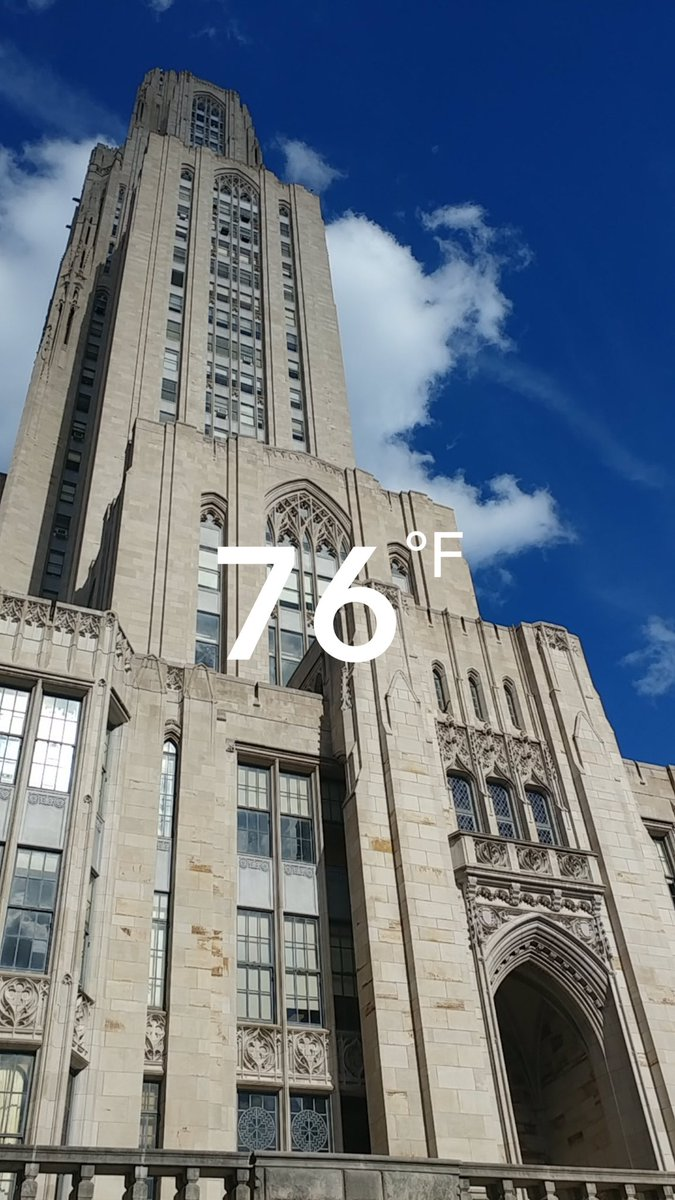 RT @PittAlumni: A sunny sky and a record high! Happy Friday! ☀️#H2P https://t.co/4jrrbtc3mA