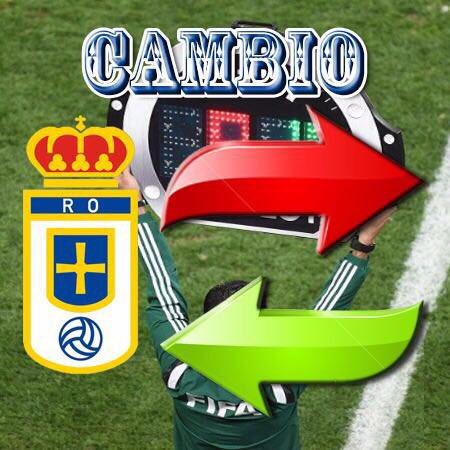 Primer cambio en el Real Oviedo. Minuto 76, se retira Erice y entra Michu https://t.co/9OLCQQMuQd
