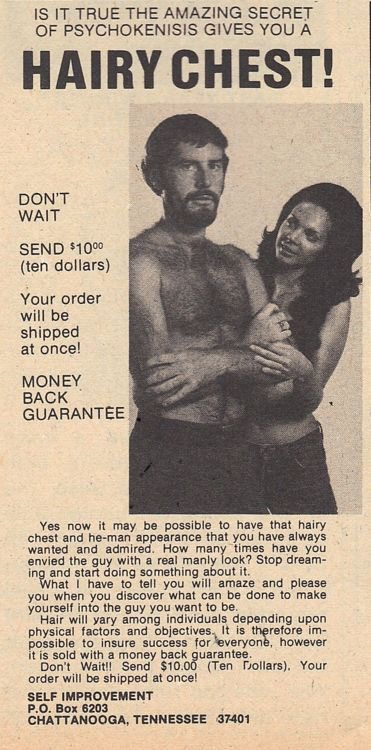 Can psychokenisis give you a hairy chest? Give me 10 bucks and we'll find out. https://t.co/DWjfj49eUm