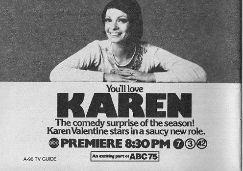 Not saucy enough, I guess. No love for KAREN, since no one remembers this TV show. https://t.co/hTr3VkIx6w