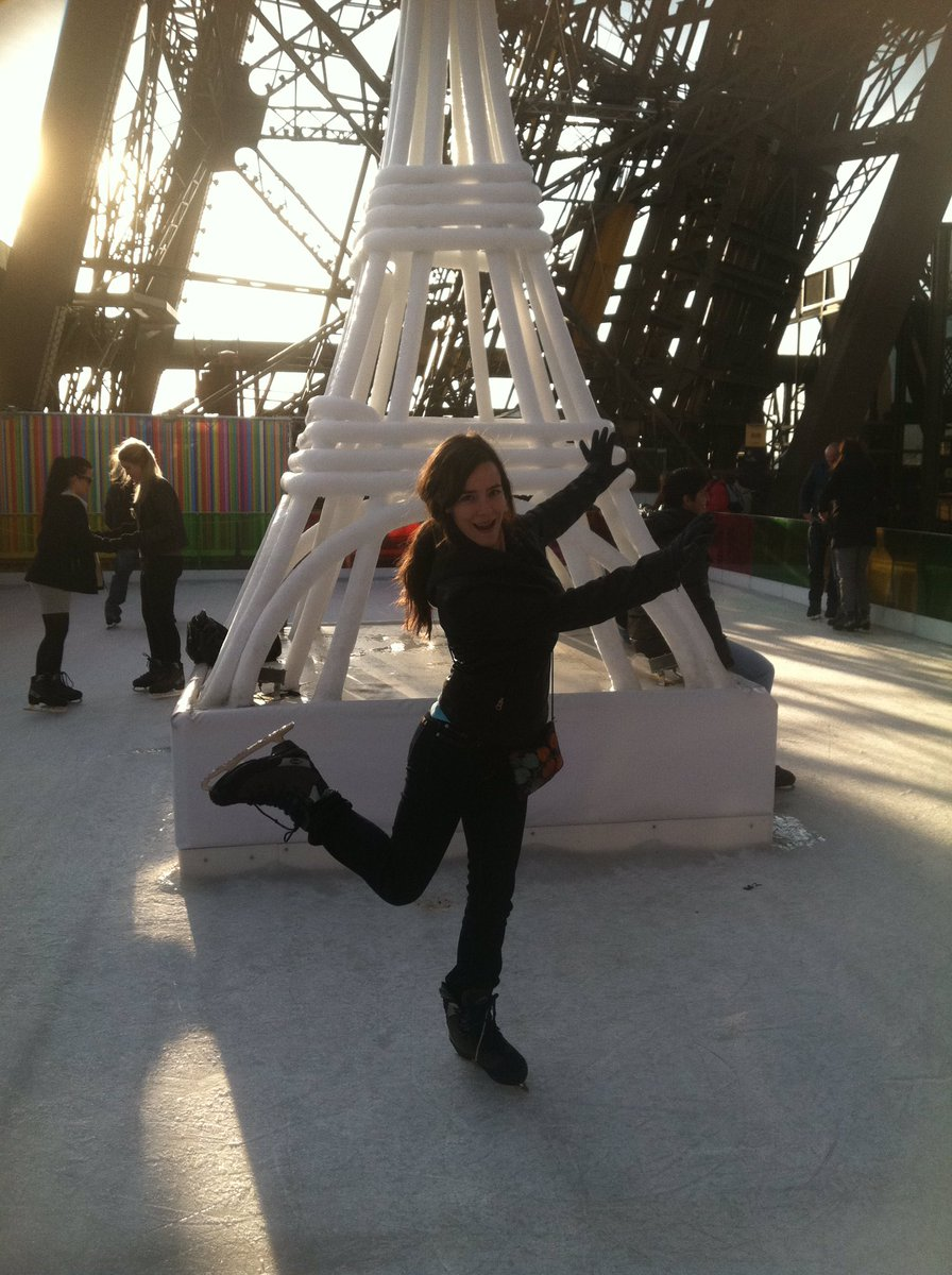#FlashbackFriday to ice skating on top of the #Eiffel Tower in #Paris #France! @annamh ...